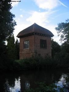 An folly on the oppsosite bank near Walsham Lock